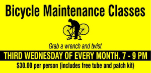bicycle maintenance class ad